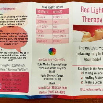 Photo Of Red Light Therapy   Honolulu, HI, United States. Some Of The