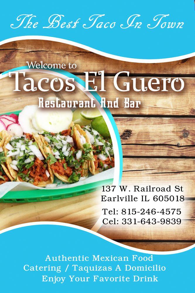 Tacos El Guero: 137 W Railroad St, Earlville, IL