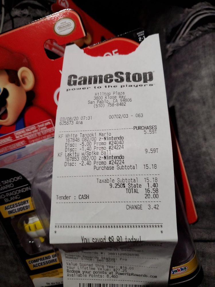 Gamestop: 3800 Klose Way, Richmond, CA