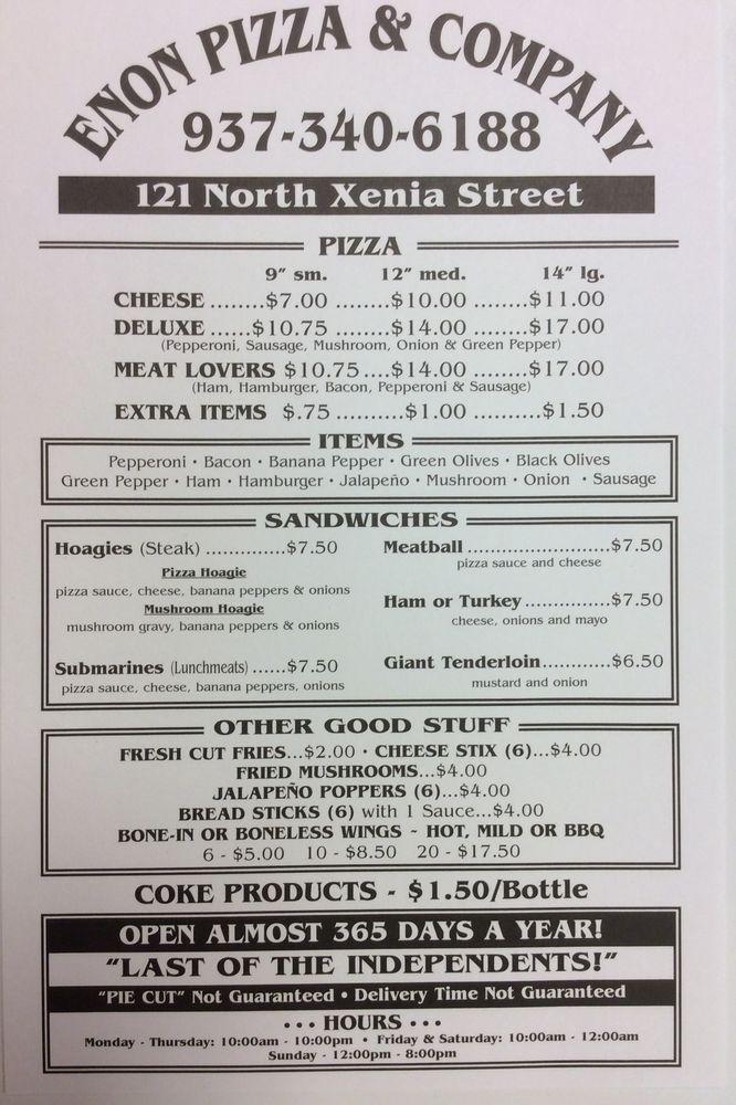 Enon Pizza & Company: 121 N Xenia St, Enon, OH