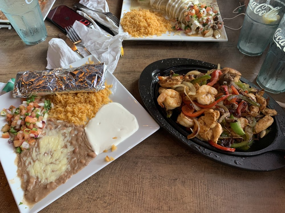 Food from Plaza Azteca