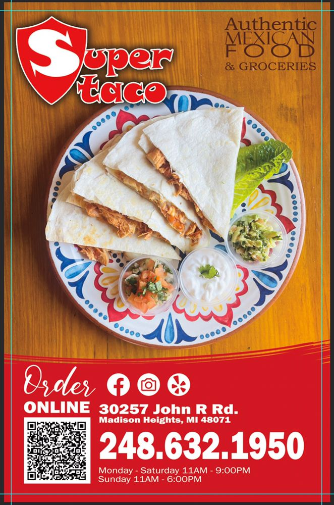 Super Taco Mexican Food and Market: 30257 John R Rd, Madison Heights, MI