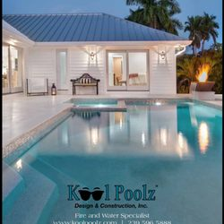 Kool poolz design construction pool cleaners naples for Pool design naples fl