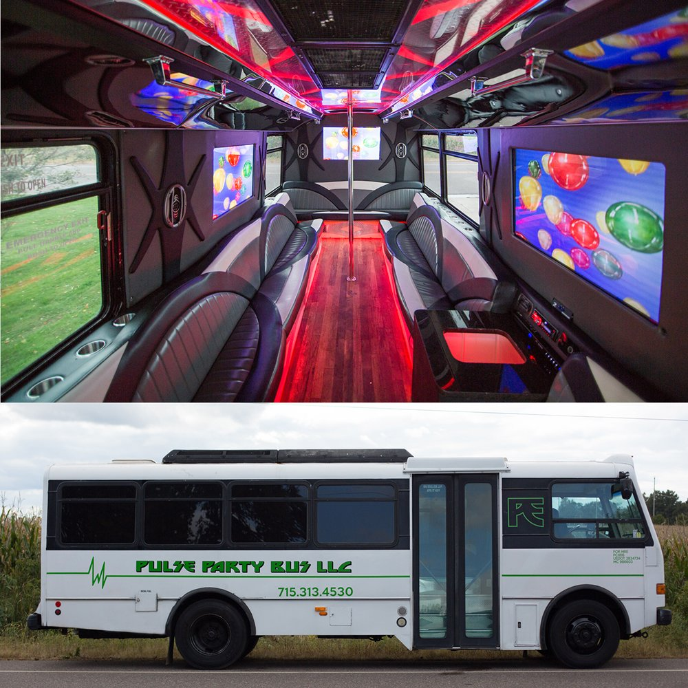 Pulse Party Bus: 1808 5th St E, Menomonie, WI