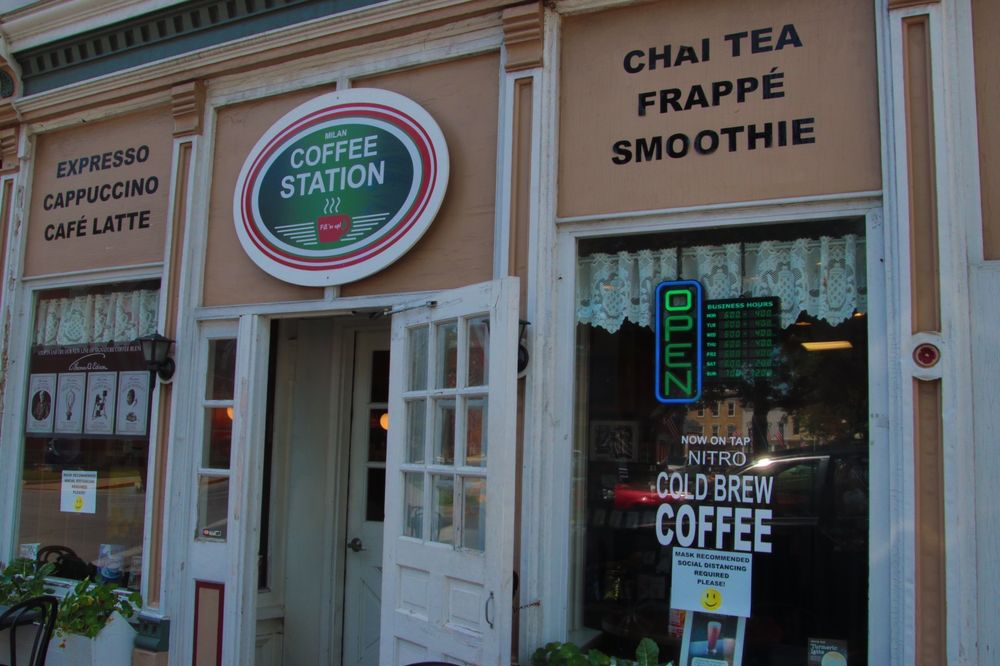 Coffee Station: 29 E Church St, Milan, OH