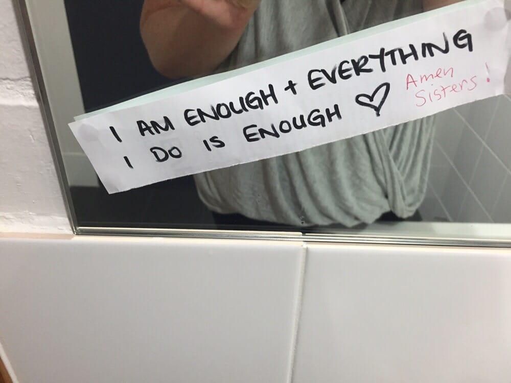 Bathroom Mirrors Queensland motivation in a bathroom mirror - yelp