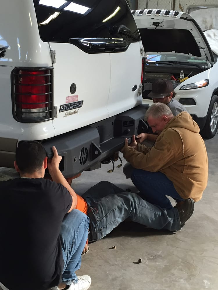 Team Effort Replacing Rear Bumper On A Ford Excursion Yelp