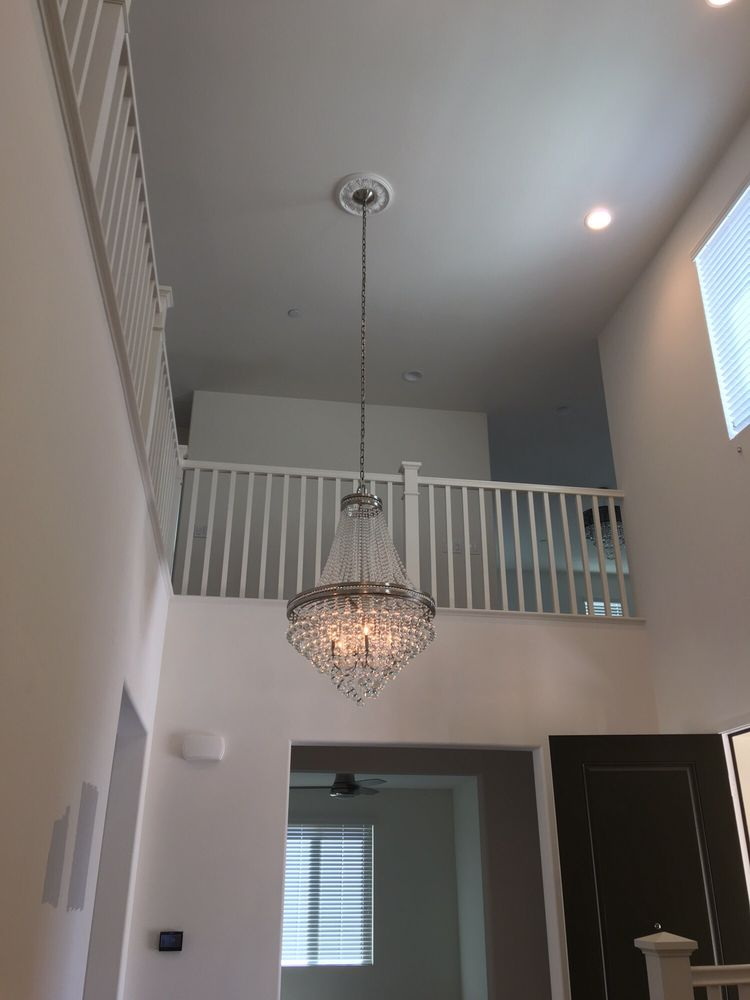 Foyer Chandelier On 20 Foot Ceiling  Done By Our Amazing