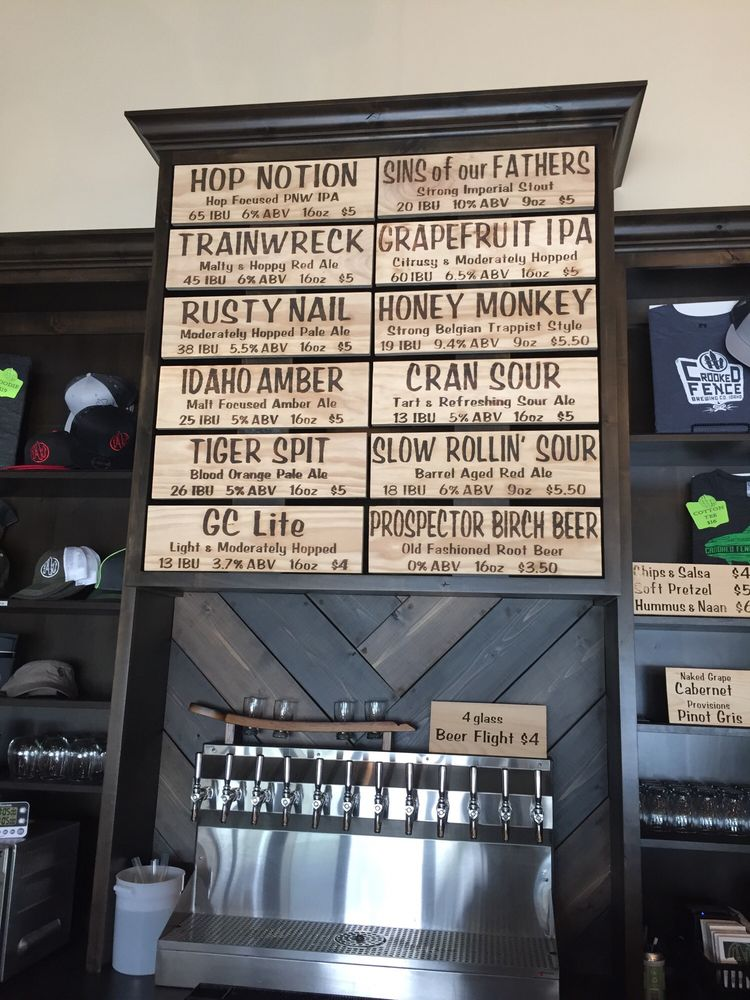 Crooked Fence Brewing: 5220 N Sawyer Ave, Garden City, ID