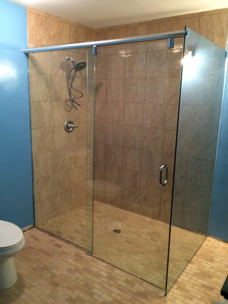 Hydro slide frameless sliding shower door! - Yelp