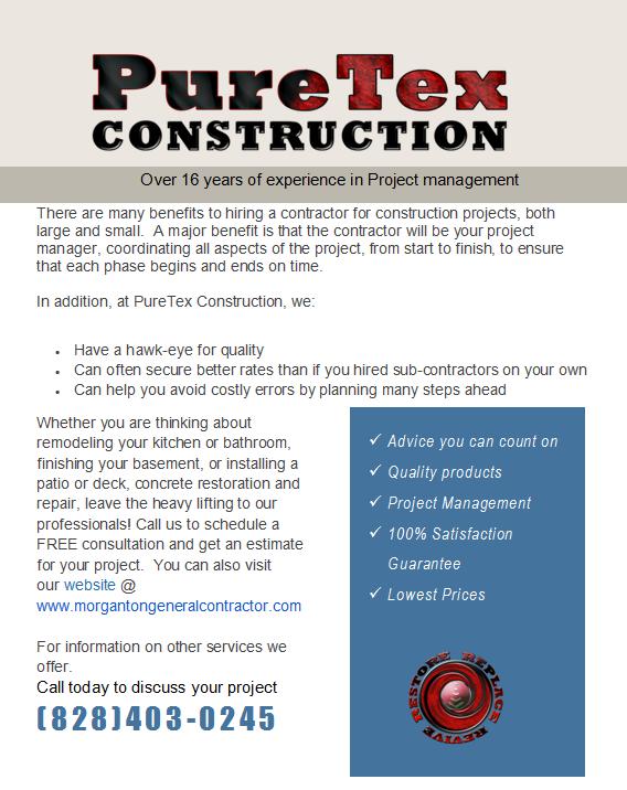 PureTex Construction: 5125 Crawley Dale St, Morganton, NC