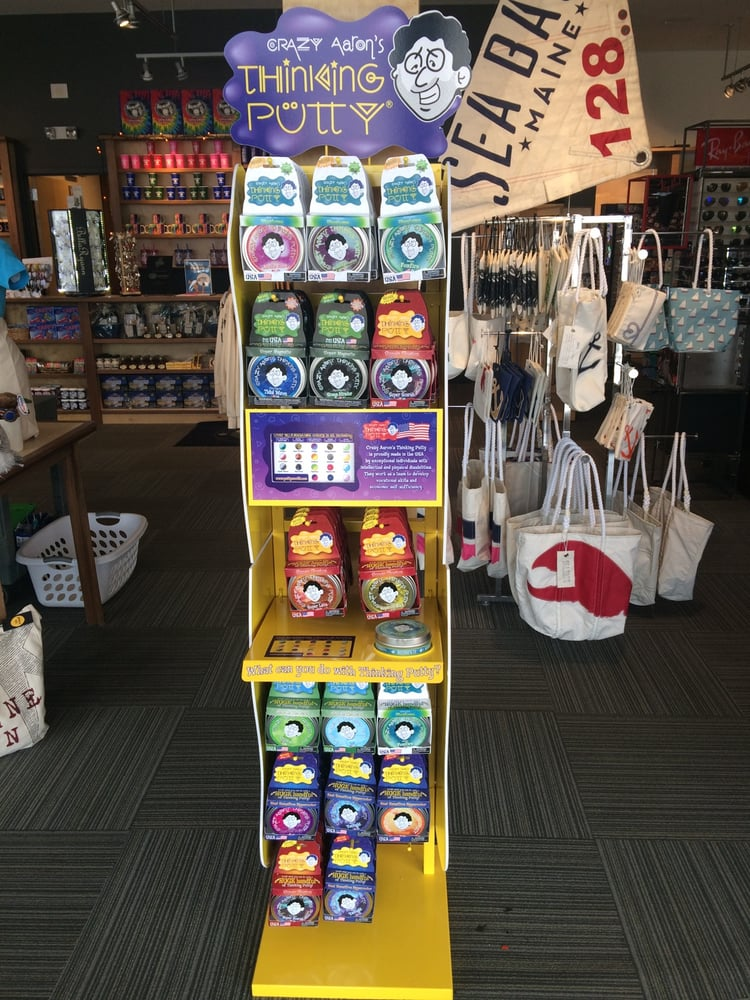 Crazy Aarons Thinking Putty Display In Our Brunswick Store Yelp - Aarons store map us