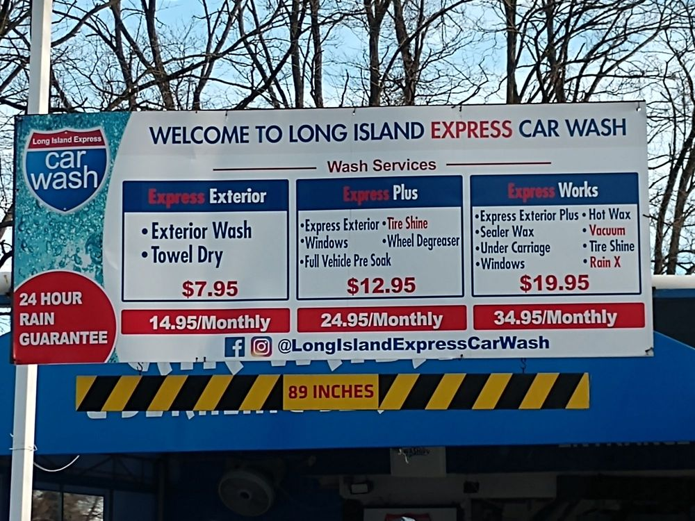 Long Island Express Car Wash: 700 Commack Rd, Commack, NY