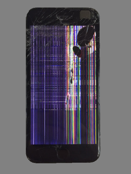 Check out this damaged iPhone 6 display! White lines, spots, or