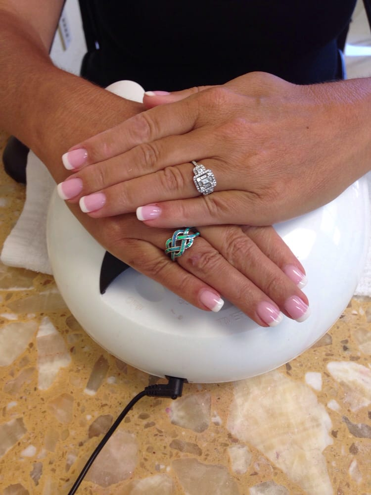 Just got a mani and pedi !!! New dip powder for your nails ls! Love ...