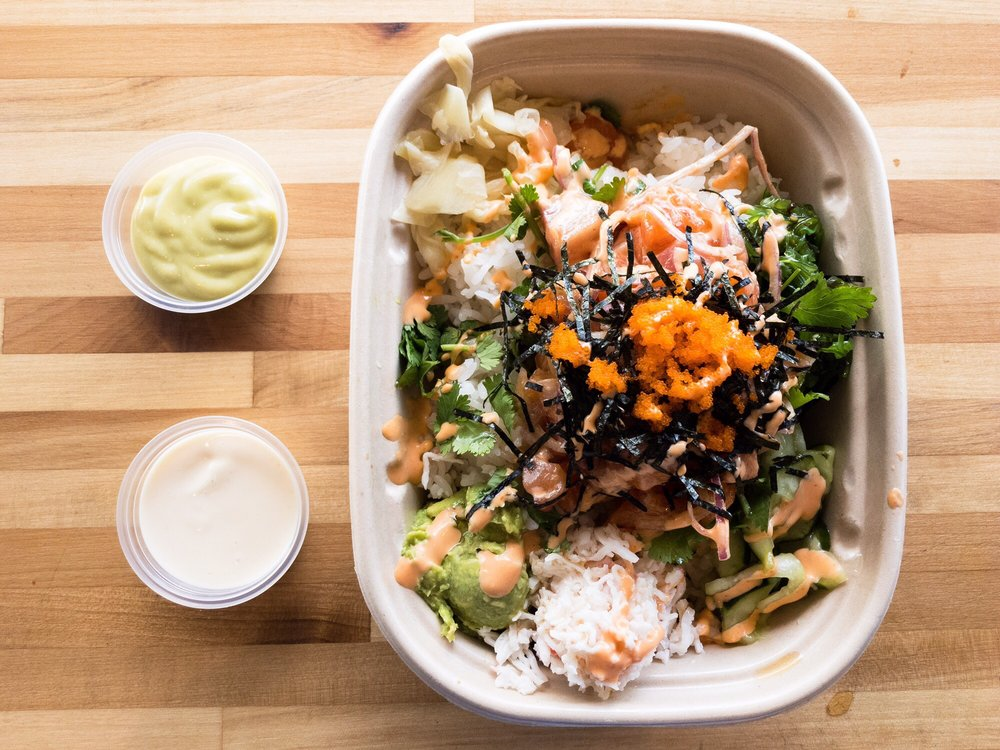 Food from Poke Bistro