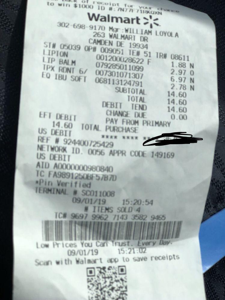 Walmart Supercenter: 263 Walmart Dr, Camden, DE