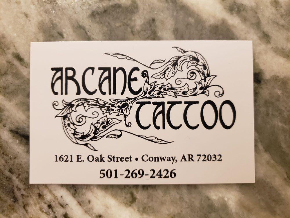 Arcane Tattoo: 1621 E Oak St, Conway, AR
