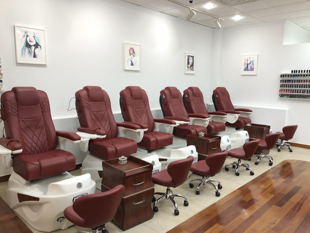 Pedi chairs, we don\'t use liners, Ecolab fungicide works hard to ...