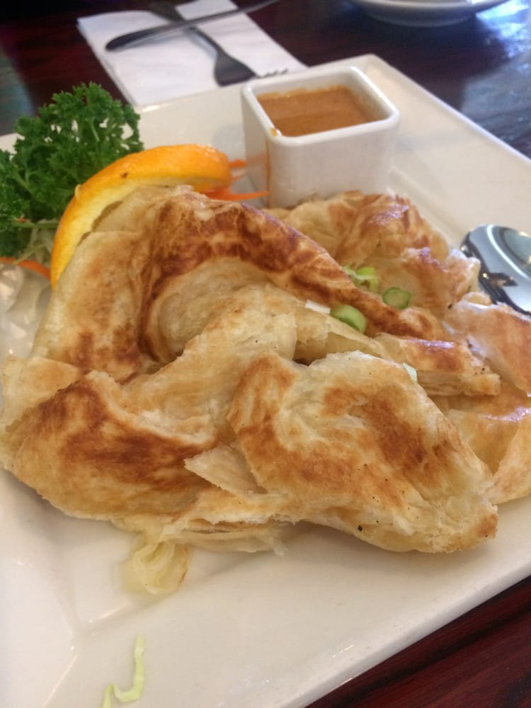 Roti with yummy sauce yelp for Amarin thai cuisine