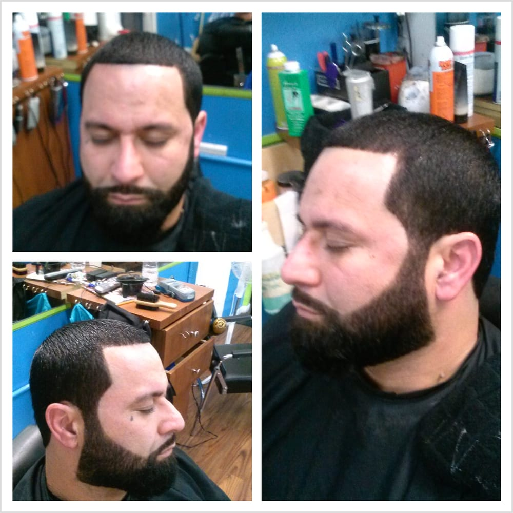 haircut and beard trim haircut with beard trim complimented with the razor finish 2573