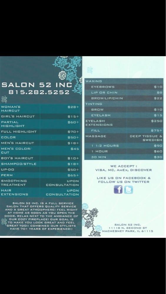 Salon 52: 11118 N 2nd St, Machesney Park, IL