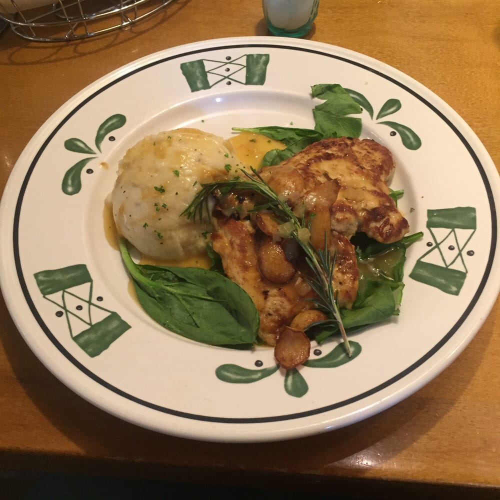 Garlic Rosemary chicken. Very tasty and only 540 calories! - Yelp