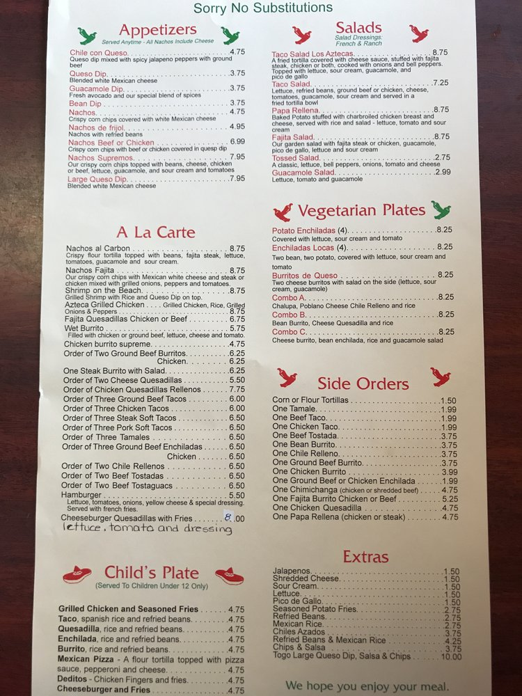Los Aztecas Mexican Grill: 1730 W Broadway St, Princeton, IN