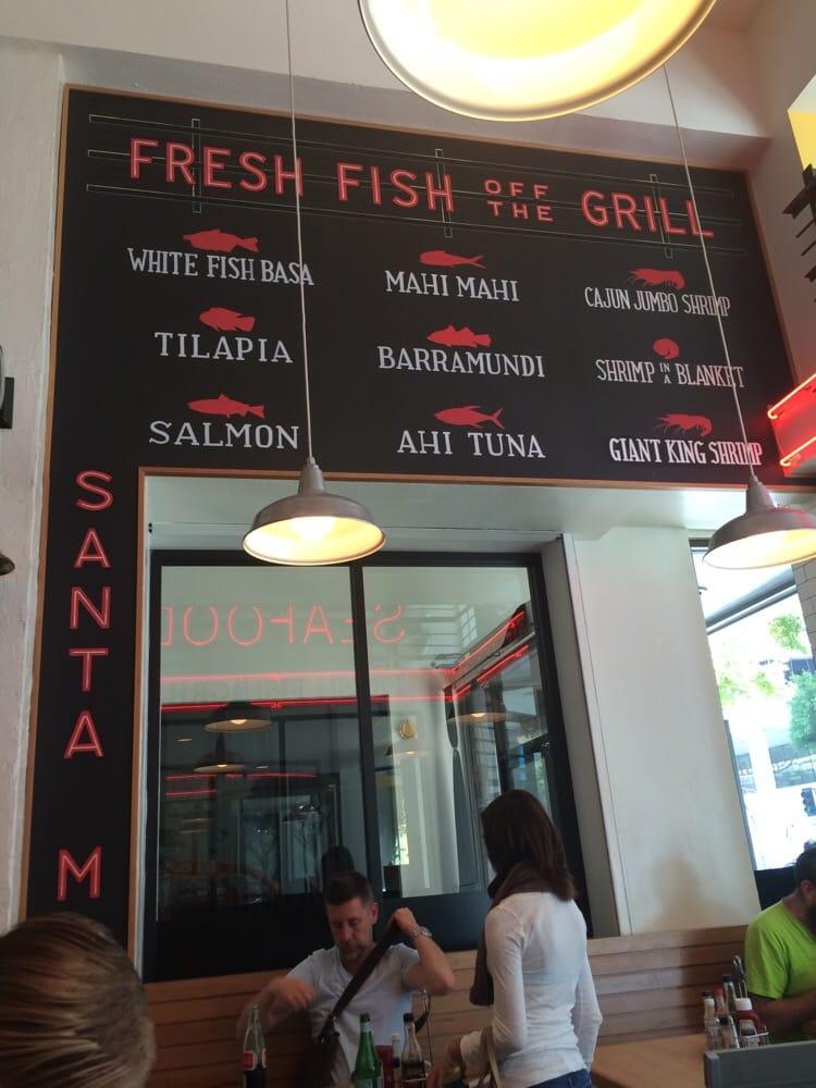 Cute fish menu decor yelp for Seasalt fish grill