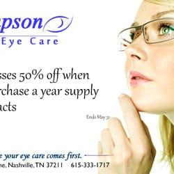 thompson eye care optometrists 181 thompson ln