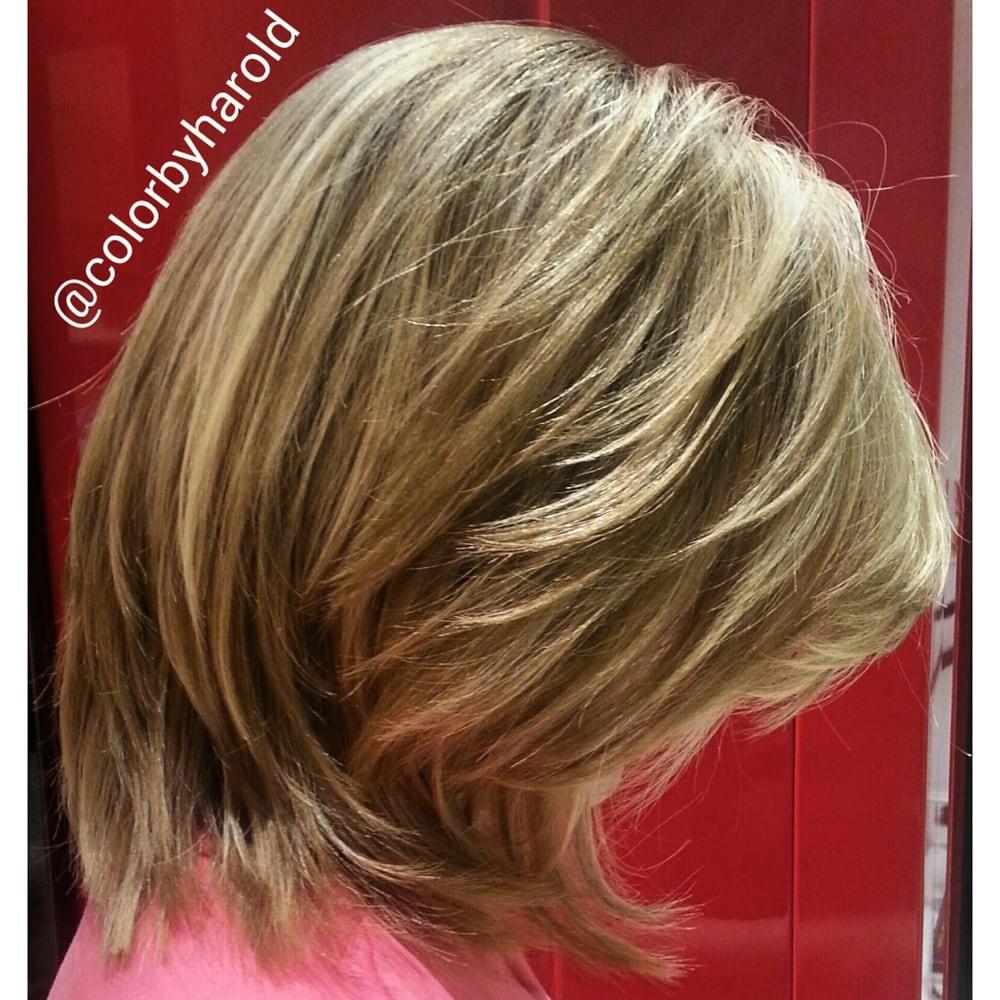 Multidimensional Lightest Golden Blonde On Dark Ash Blonde By Dye