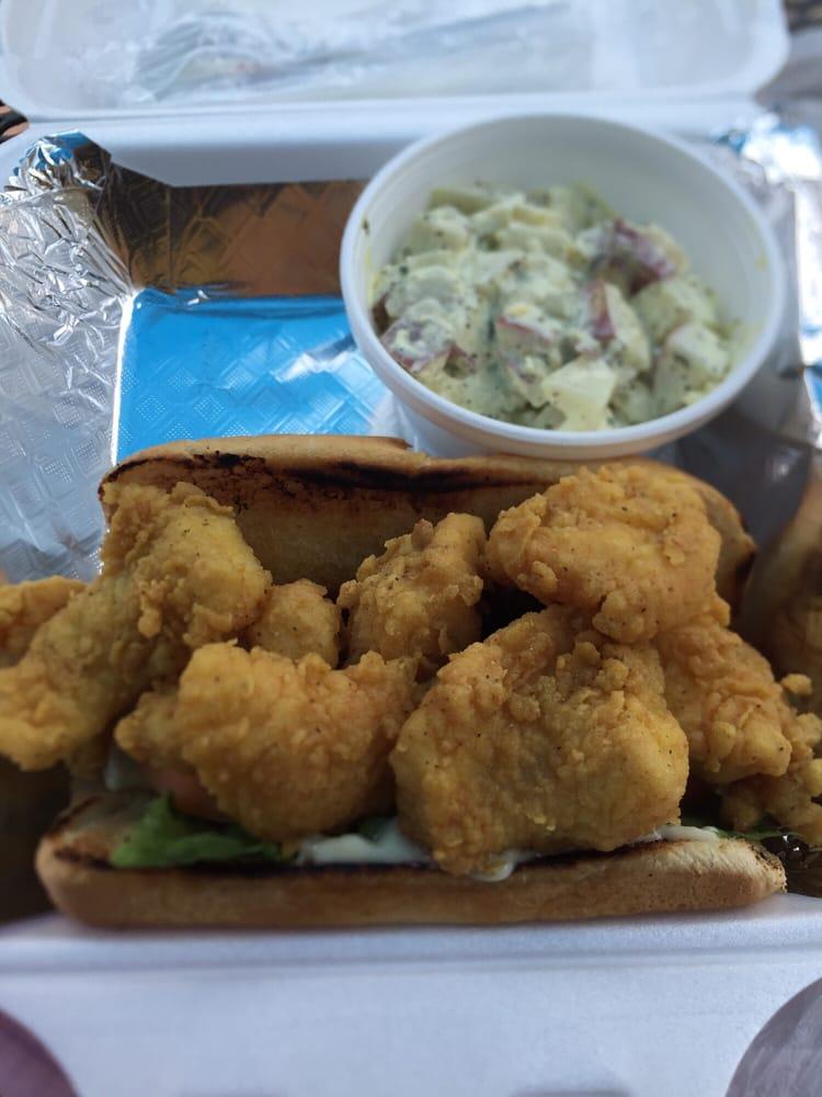 Catfish Sandwich With Potato Salad Yummy Yelp