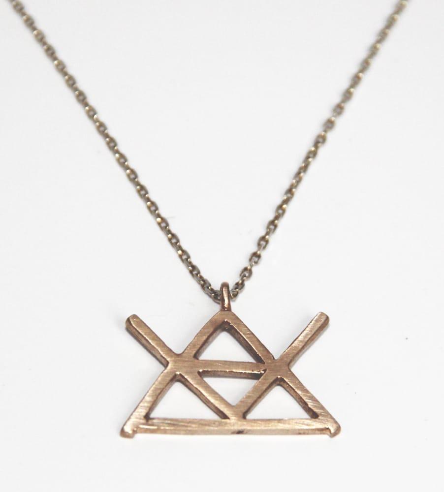 Alchemy symbol for fire necklace by lady j jewelry yelp photo of lady j 1 new york ny united states alchemy biocorpaavc