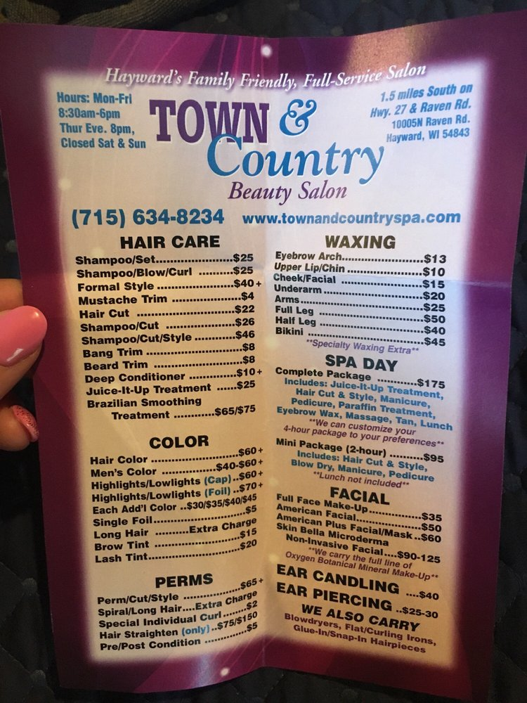Town & Country Beauty Salon: 10005 N Raven Rd, Hayward, WI
