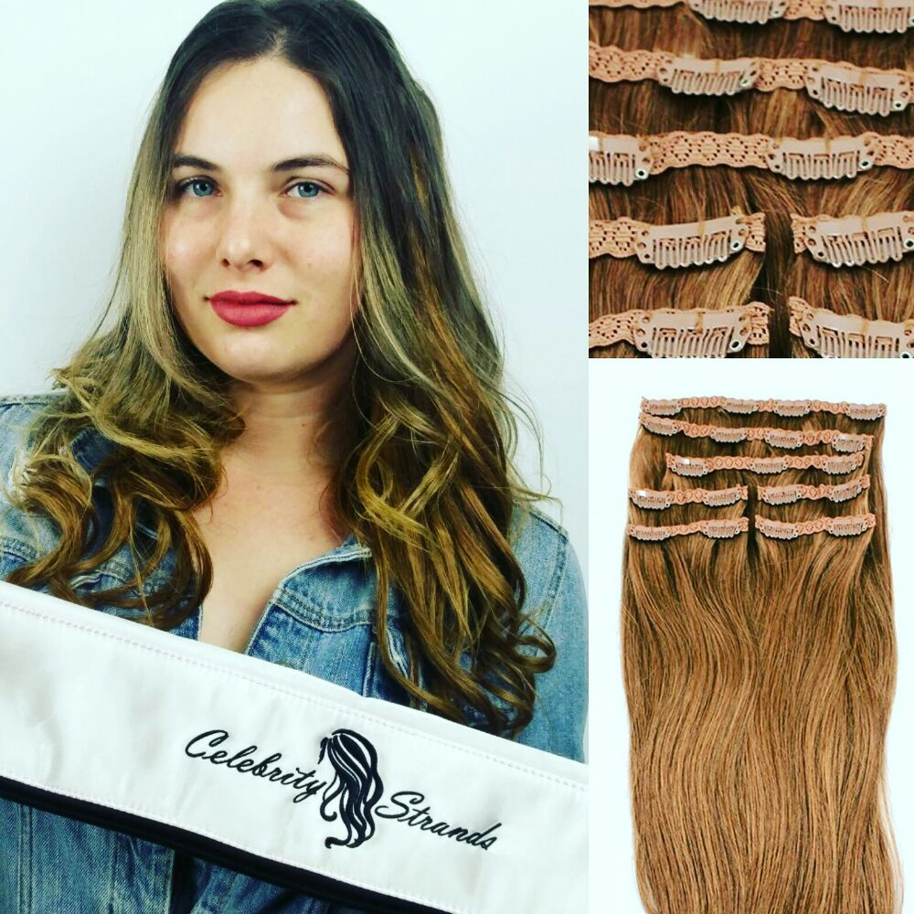 18 Clip In 100 Human Hair Extensions Color 6 Chestnut Brown Yelp