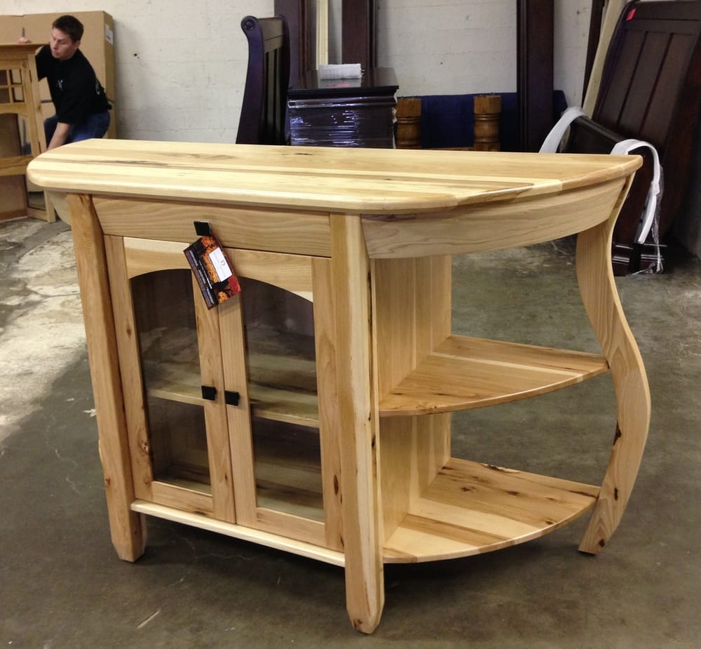 Amish Made Curved Hickory Buffet. Options Include, Oak