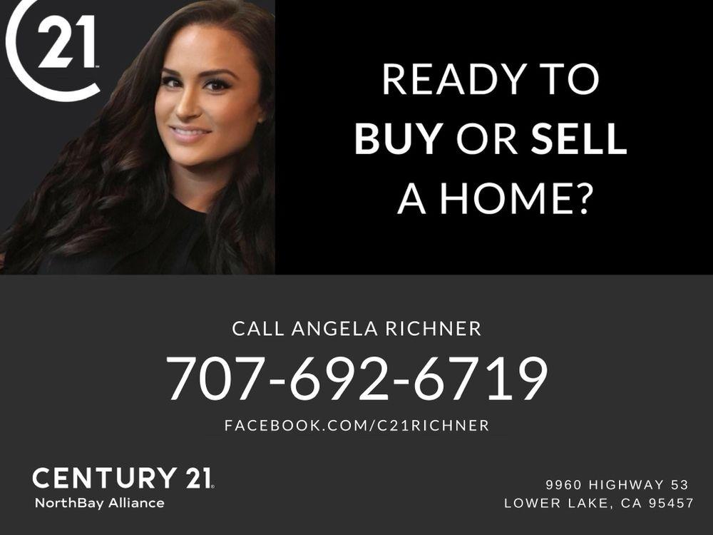 Angela Richner - CENTURY 21 NorthBay Alliance: 9960 Hwy 53, Lower Lake, CA