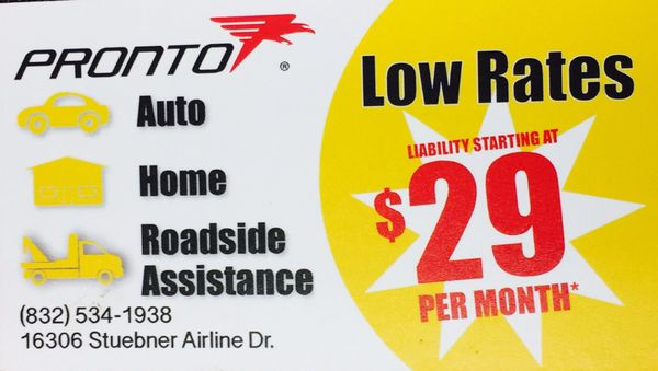 Pronto Insurance Spring - Get Quote - Auto Insurance - 16306 ...