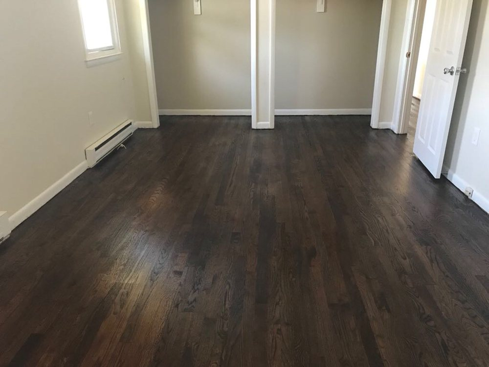 After White Oak Floor Stain Antique Brown From Duraseal Yelp