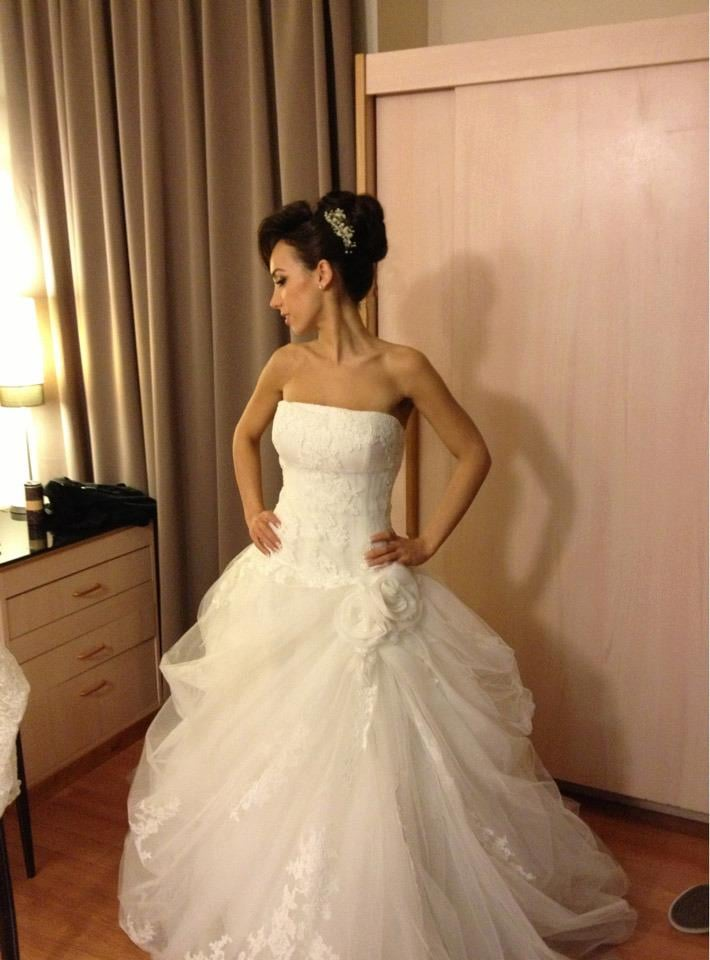 Picture of my perfect wedding dress. From size 12 to size 0. - Yelp