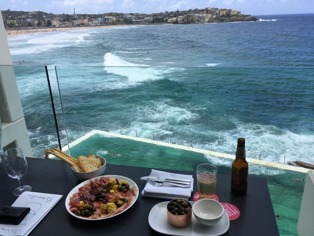 view of bondi beach and bondi pool from the balcony yelp. Black Bedroom Furniture Sets. Home Design Ideas
