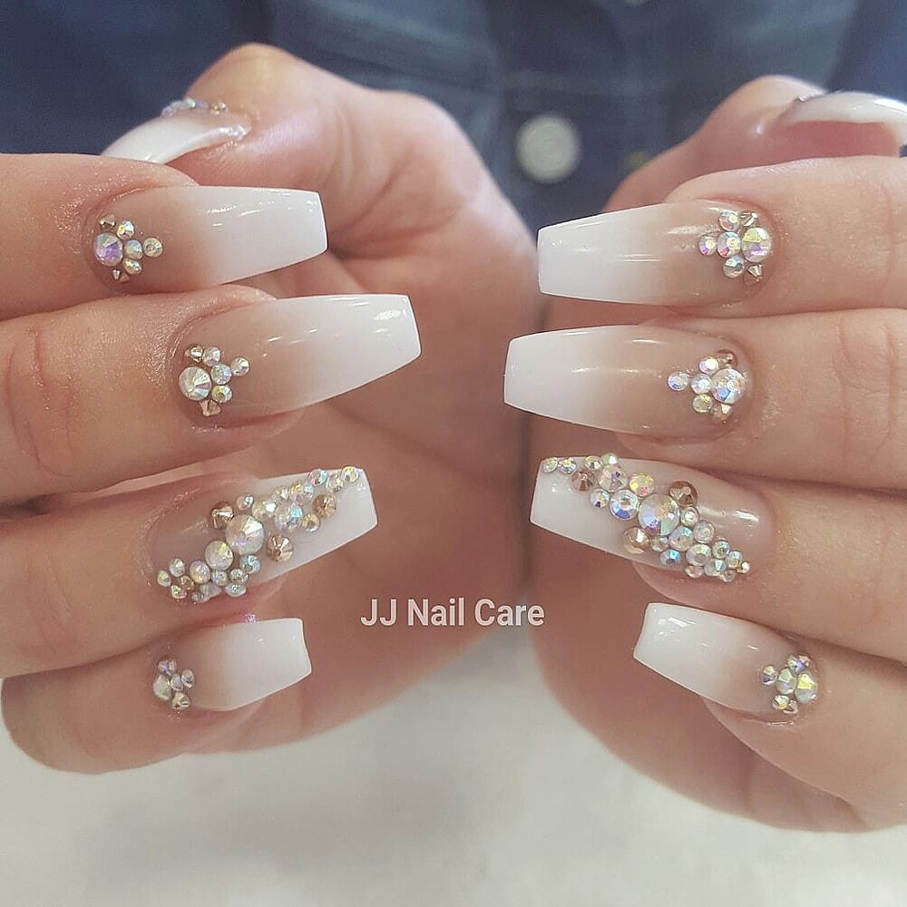 Nude and white ombre - Yelp
