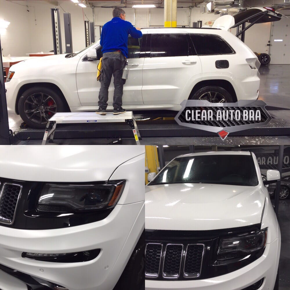 Clear Car Bra: Jeep Grand Cherokee SRT Wrapped In Stealth XPel Paint