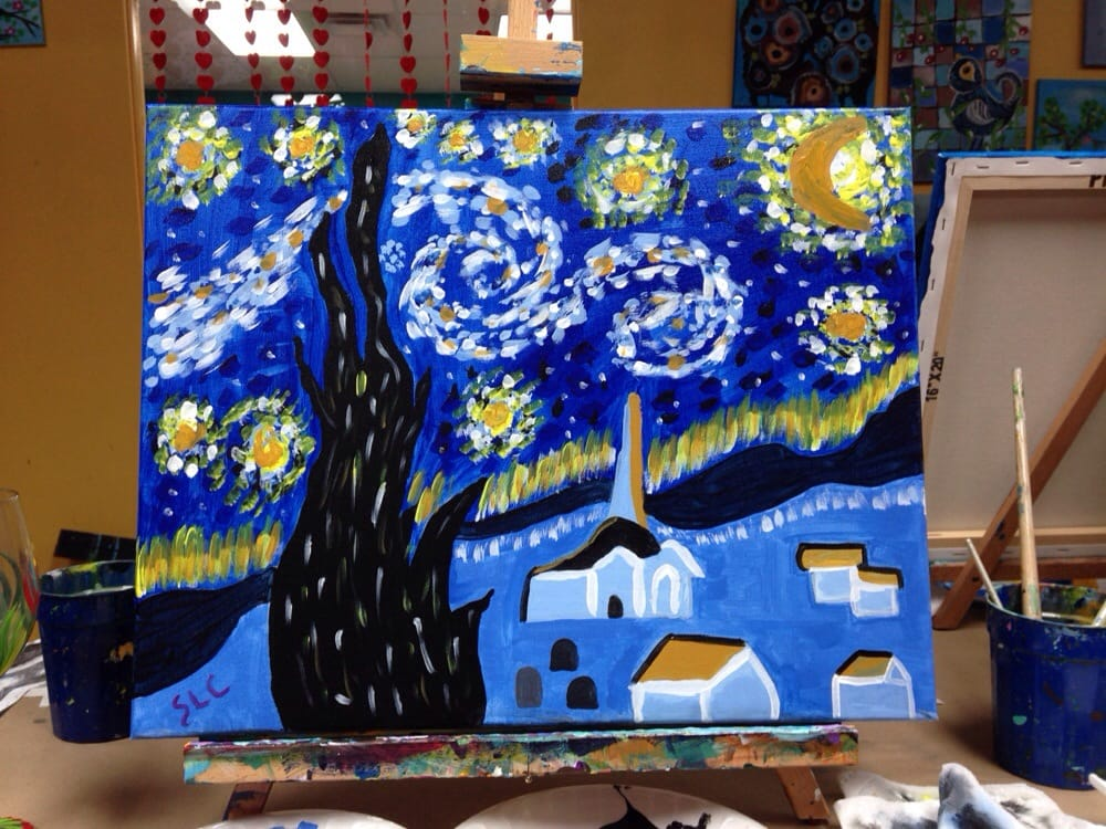 Whimsy art studio 28 fotos kunstgalerie 2211 nw for Wine and paint san antonio