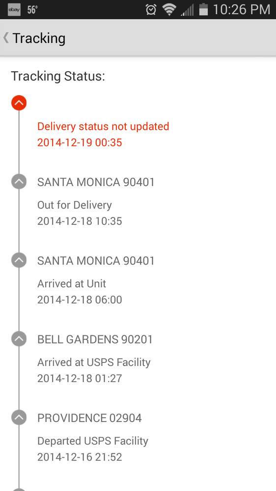why on earth is my package in santa monica yelp