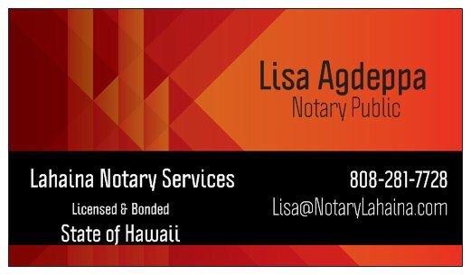 Lahaina Notary Services: Lahaina, HI