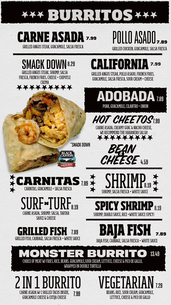 Food from Taco Man Grill