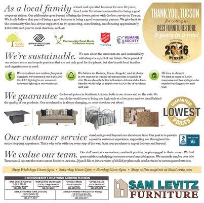 Sam Levitz Furniture 100 N Pantano Rd Tucson, AZ Furniture Stores   MapQuest