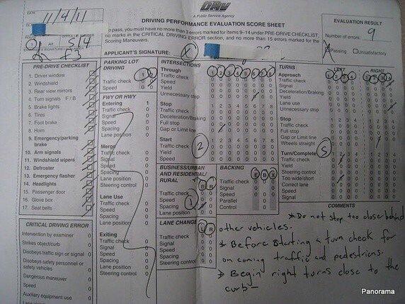 Test Score Sheet Yelp