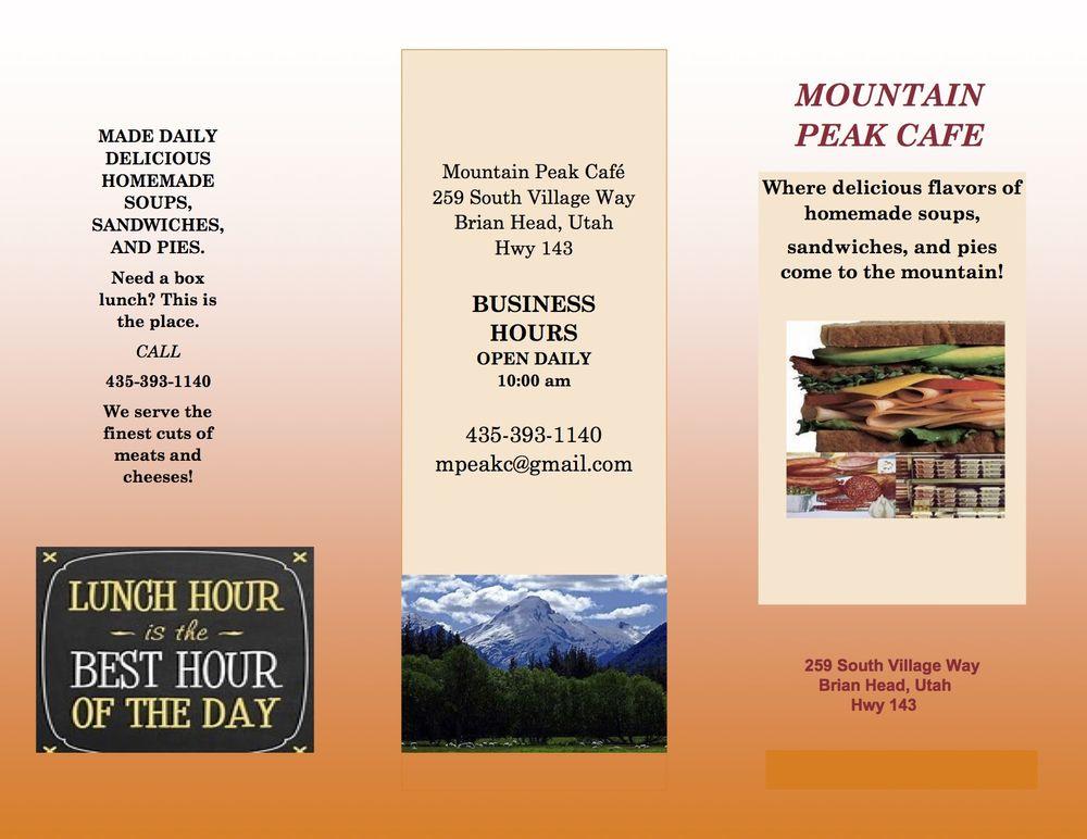 Mountain Peak Cafe: 259 S Village Way, Brian Head, UT